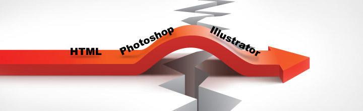 Nedeliteľná medzera v HTML, v Adobe Photoshope a Ilustratore