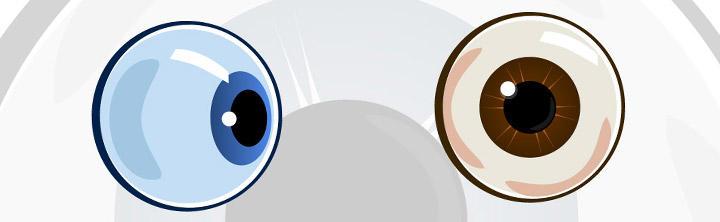 Oko na stiahnutie - vektorová ilustrácia očí v Adobe Illustratore