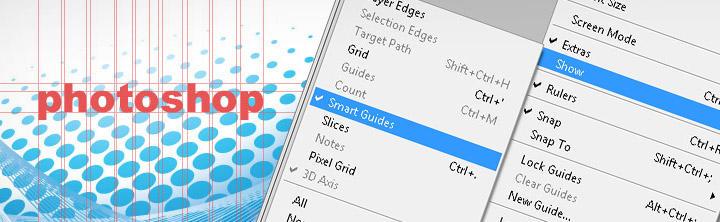 Smart Guides vo Photoshope – automatické zarovnávanie pomocou vodítok