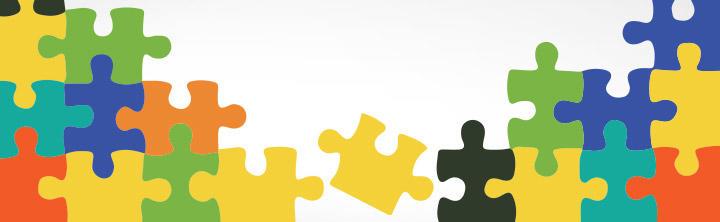 Vektorové puzzle dieliky v Adobe Illustratore