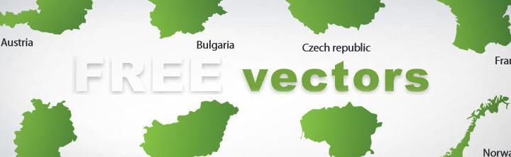 Vektory krajín Európy na stiahnutie