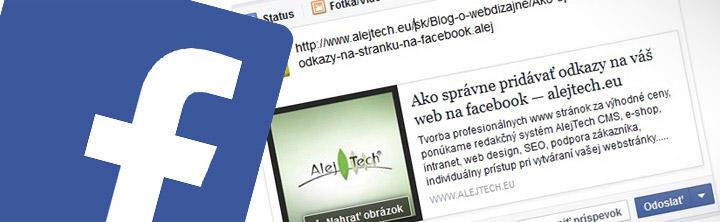Ako správne pridávať odkazy na váš web na facebook
