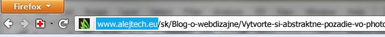 Kopírovanie časti url linky