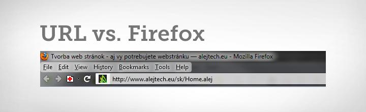 Zobrazovanie URL adresy v novom Firefoxe