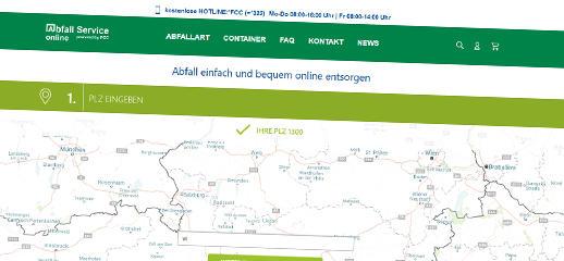 Aplikácia na objednanie a vyzdvihnutie kontajnerov - abfallserviceonline.at