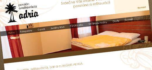 Redizajn a rozšírenie stránok pre penzión Adria v Snine