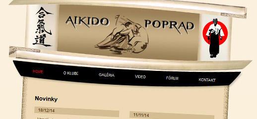 Nový portál pre športový klub Aikido Poprad