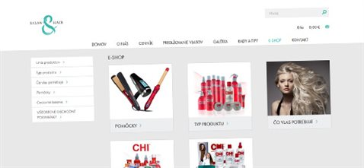 Kadernícky salón and hair s e-shopom
