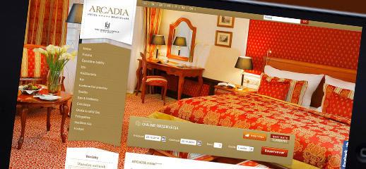 Redizajn webstránky Hotela Arcadia*****