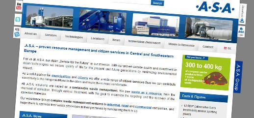Redizajn webstránok spoločnosti .A.S.A. Group