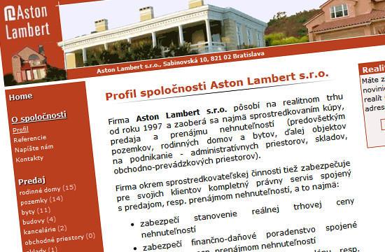 AstonLambert.sk - realitná kancelária
