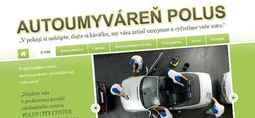 Nové stránky Autoumyvárne Polus vás informujú o svojej ponuke