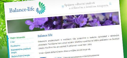 Balancelife.sk - nová webová stránka