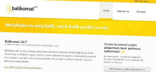 Balíkomat 24/7 – konfigurátor pre doručovanie zásielok do balíkomatov