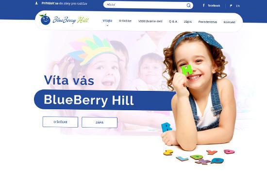 Materská škôlka BlueBerry Hill vás pozýva na svoje nové stránky