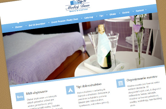 Event penzión a Bed & Breakfast Modrý Dom