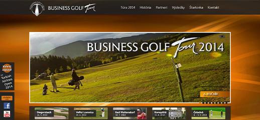 Business Golf Tour – redizajn webstránky