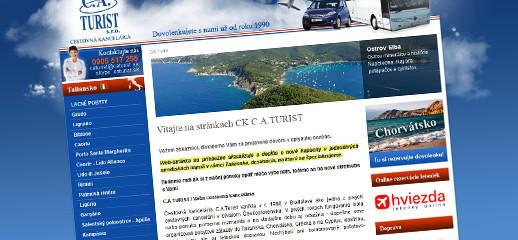 Redizajn webstránky cestovnej kancelárie C.A.Turist