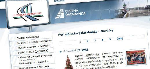 Nová tvár Portálu Cestnej databanky