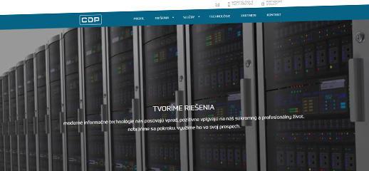 Firemná web stránka s e-shopom pre CDP