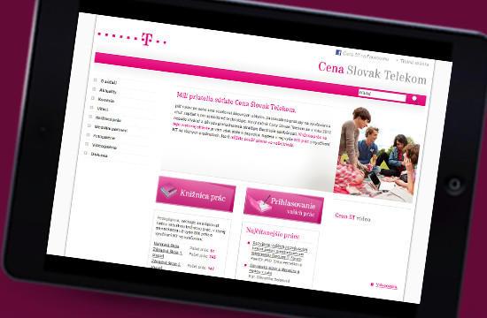 Nová web stránka Cena Slovak Telekom