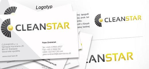 Logo a dizajnmanuál pre spoločnosť CleanStar