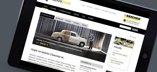 Nový e-shop produktov Kärcher pre firmu CLEANSTAR s.r.o.