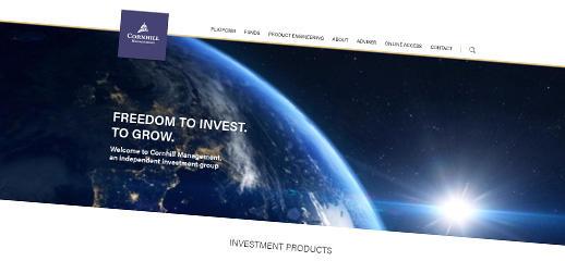Cornhill Management Group s novým webom