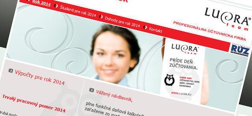 Daňová kalkulačka je nová stránka firmy LUCRA team