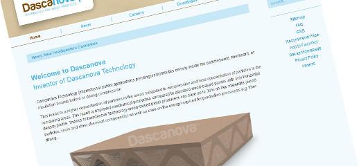 Web prezentácia spoločnosti Dascanova