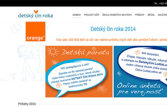 Orange podporuje Detský čin roka