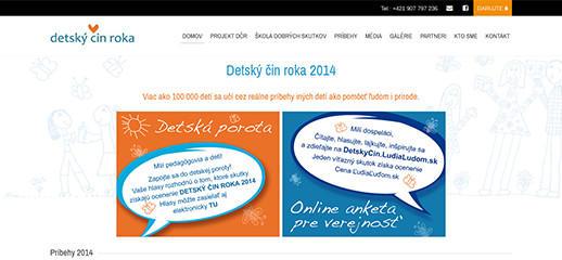Detský čin roka – nová responzívna webstránka