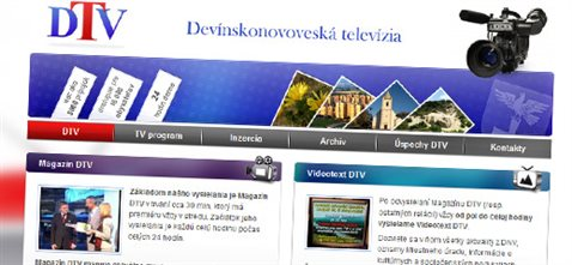 Devínskonovoveská televízia - redizajn webstránky