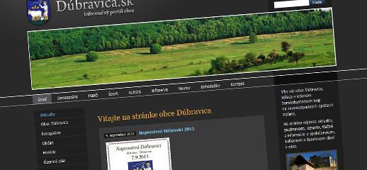 Nová obecná webstránka Dúbravica.sk je spustená