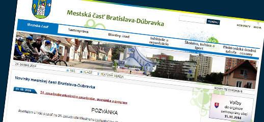 Mestská časť Bratislava-Dúbravka - redesign