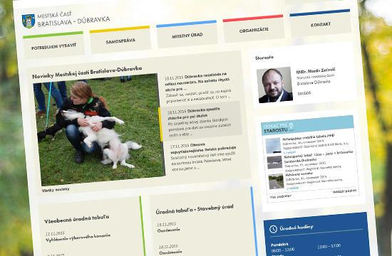 Zmodernizovaná webstránka Bratislava-Dúbravka