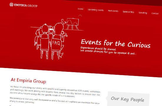 Redizajn web stránky spoločnosti Empiria Group Ltd.