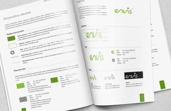 Dizajn manuál firemnej identity pre spoločnosť ENVIS, s.r.o.