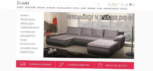 E-shop pre nábytok FAMM