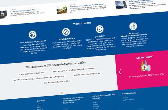 FCC Environment – redizajn nadnárodnej webstránky .A.S.A. Group
