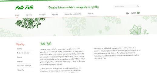 Folk Folk - tradičné ľudovoumelecké a manufaktúrne výrobky