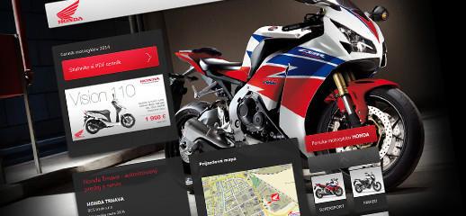 Predaj motocyklov značky Honda v Trnave