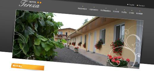 Hotel Tereza - kompletný redizajn webstránky