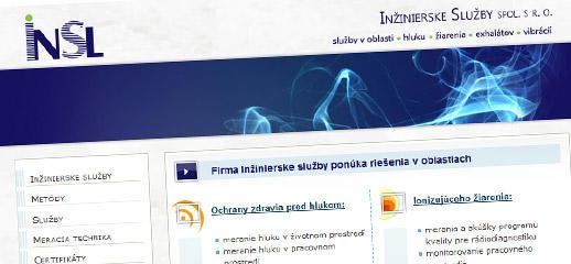 Redizajn web stránky pre Inžinierske služby