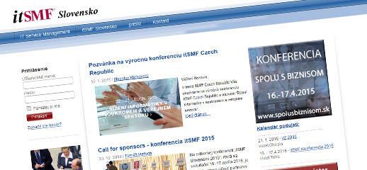 itSMF Slovensko - redesign webovej stránky