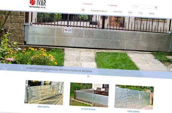 IVAR Slovensko - komplexné protipovodňové riešenia