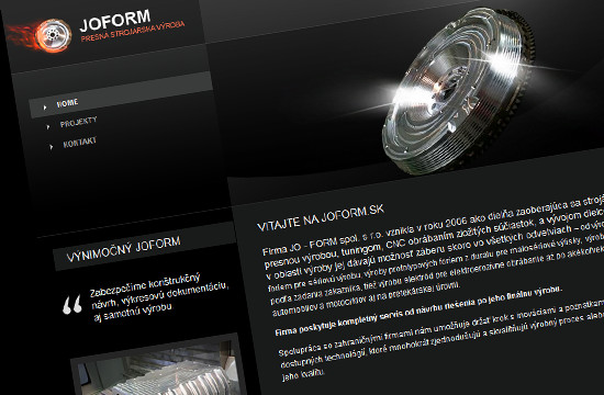 Joform.sk - presná strojárska výroba a tuning