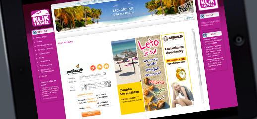 Nová webstránka cestovnej kancelárie KLIKtravel