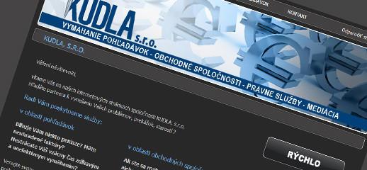 Webstránka pre tím právnikov Kudla-inkaso.sk