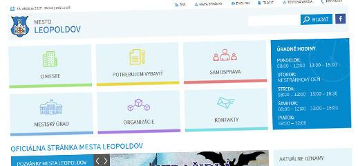 Redizajn webového sídla mesta Leopoldov